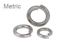 Split Lock Washers, <span style=font-family: Arial; color: #D85906>METRIC</span> Stainless