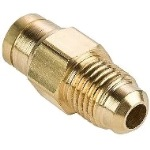 "Connector, SAE 1/4"" 45° Flare x 1/4"" Push In Tube, 1 ct"