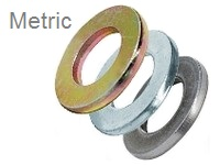 Flat Washers, <span style=font-family: Arial; color: #D85906>METRIC</span> Alloy